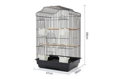 Pet Bird Cage Budgie Canary Parrot Finch 68CM Perch Coated Non-Toxic