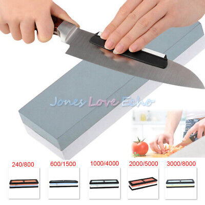 DUAL DOUBLE SIDED Grit Knife Sharpening Sharpener Stone ...