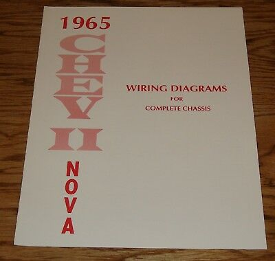 1965 Chevrolet Chevy II Nova Wiring Diagrams for Complete Chassis 65
