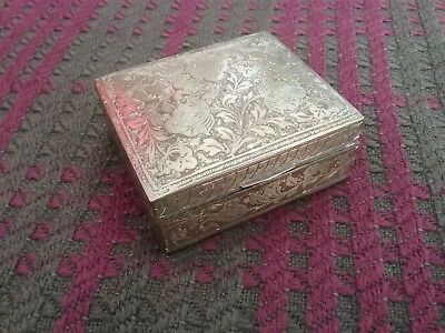 Decorative brass vintage trinket/box.