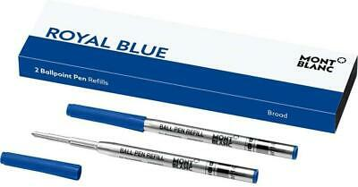 Montblanc 2 Ballpoint Broad Pen Refill - Pacific Blue 116214