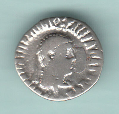 India 2000 Years Old Indo Greeks Extremely RARE Silver Drachma Apollodotus 194