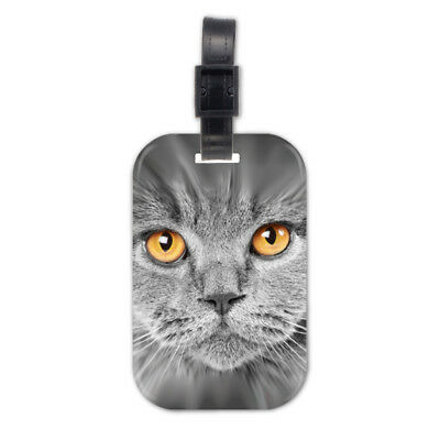 Gary Cat Kitten Lovely Wood Travel Luggage Tag Bag Accessory