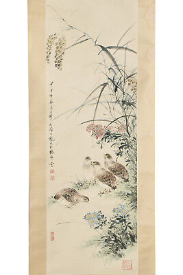 Fine Chinese Scroll Painting On Paper Signed Yan Bo Long (1898-1955)