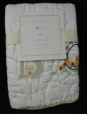 """Pottery Barn Kids Baby Abc Quilted Sham Small Toddler 12X16"""" #4"""
