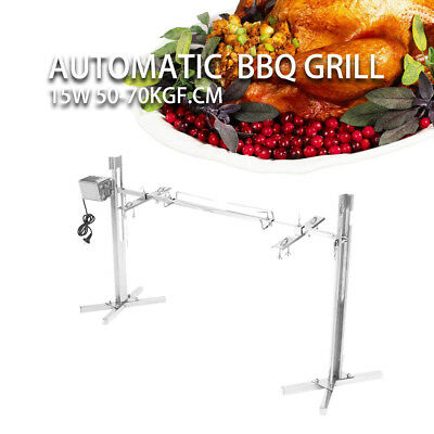 Spanferkelgrill Lammgrill BBQ Grill Barbecue 15W Motor Holzkohle Grillspieß