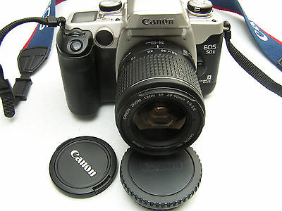 Canon EOS 50e QUARTZ DATE Kit mit Objektiv EF 3,5-5,6 28-90mm Top zustand !