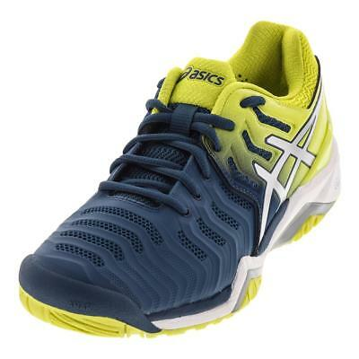 ASICS MENS Gel Resolution 7 Tennis Shoes Ink Blue and