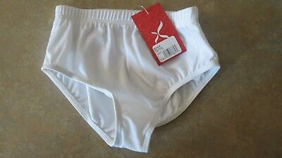 NWT Capezio Intermediate Child Briefs White