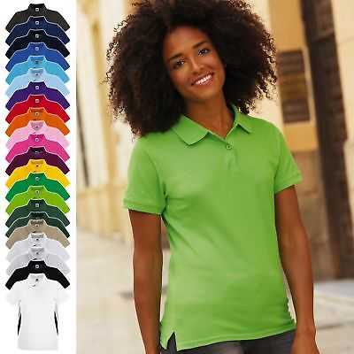Fruit of the Loom: Damen Poloshirt, in 24 Farben, Baumwolle - Fit 63-030-0 - NEW