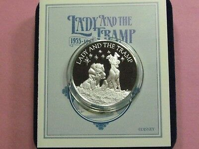 Lady And The Tramp Disney 40Th Anniversary 1955-1995 Scarce 999 Silver Coin Coa