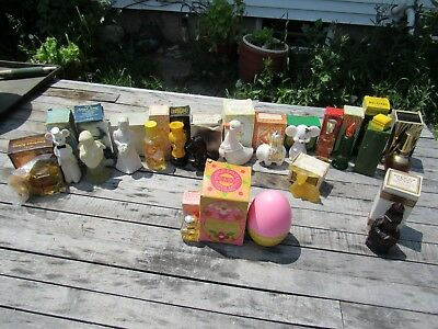 Vintage 1970s AVON Lot 18 Curious Kitty, Elephant, Christmas, Duck, Deer Cologne