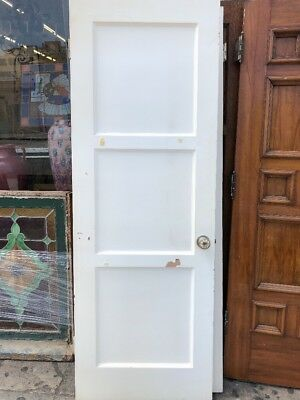 Three Panel Interior Door With Spanish Hardware 27x78