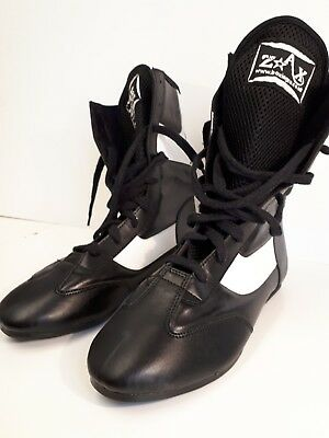 Boxing Boots Wrestling ITP Zax Black White Size 7 Training Shoes Lace Up