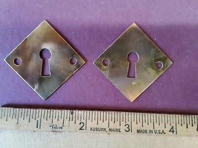 Antique Arts & Crafts Key Hole Cover Key Escutcheon  - Lot of 2 - Matched Pair