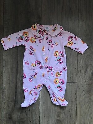 Baby Girl's Ted Baker Floral Sleepsuit - Newborn - Excellent Condition