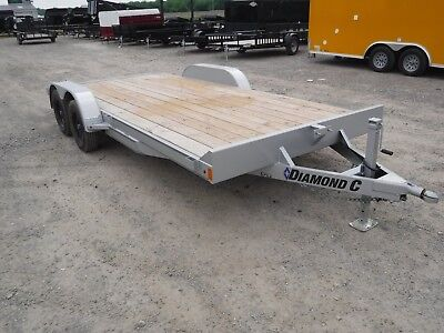 18ft Diamond C Trailer 7GTF Equipment Car Auto Motorcycle ATV Tractor Trailer TX