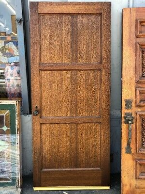 "three Panel Interior Spanish Door With Spanish Revival Hardware 79"" X 33 -3/"