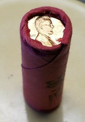 1974 (P) Lincoln Cent 50 BU Coins Old Bank Wrapped Paper Roll