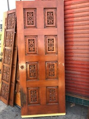 Spanish Mexico Style Door With Carved Panel 79 X 32