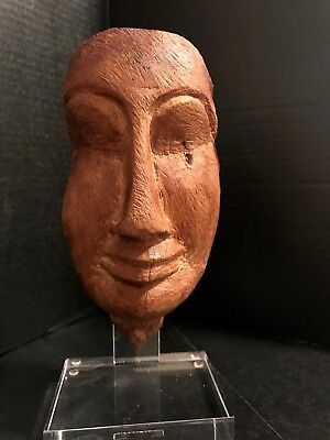 Ancient Egyptian wooden Mummy mask Third intermediate  - 7 1/2 inches