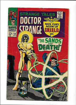"Strange Tales #158 [1967 Gd] ""the Sands Of Death!""  Doctor Strange!"