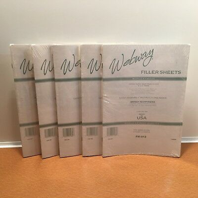 Lot of 5 New Packs Webway Filler Sheets FW-812 Each has 5 sheets/10 pages Sealed