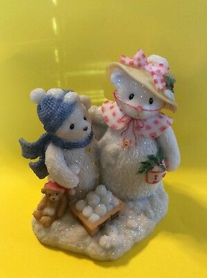 ADORABLE Cherished Teddies Frosty And Aurora - Let It Snow, Let It Snow #706884