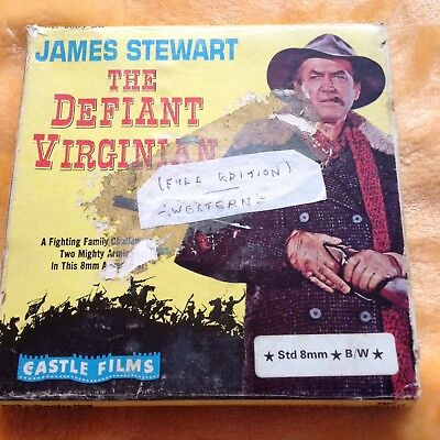JAMES STEWART IS...THE DEFIANT VIRGINIAN.Standard 8mm Black And White.