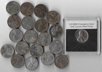 Rare Very Old WWII WW2 1943 US Lincoln Coin Collection Collectible USA War Lot