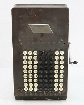 Vintage 1920 Felt And Tarrant Comptometer Adding Machine Working Condition Rare
