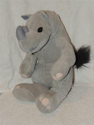 "2006 Animaland Rhino Rhinoceros Plush Stuffed Animal 16"" Tall"