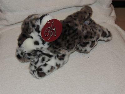 Plush Snow Leopard with TAG Stuffed Animal B J Toys 12""