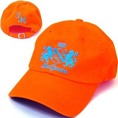 TIM McGRAW EMBROIDERED SHIELD LOGO BRIGHT ORANGE BASEBALL HAT CAP SALE OFFICIAL