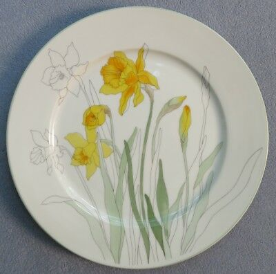 Block Spal Watercolors Dinner Plate Daffodil