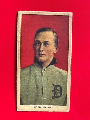 1909-1911 T206 Ty Cobb Baseball Card - Red Portrait read description