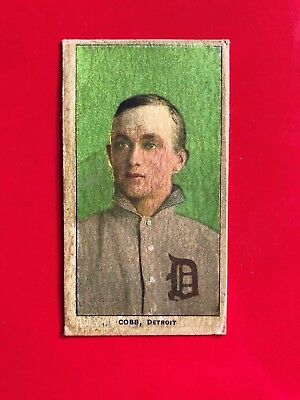 1909-1911 T206 Ty Cobb Baseball Card - Green Portrait read description