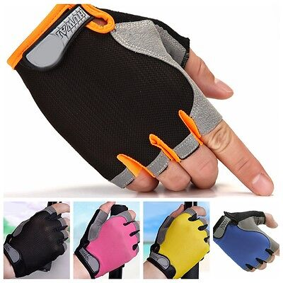 Neoprene Weight Lifting Training Fingerless Glove Workout Fitness Gym Gloves