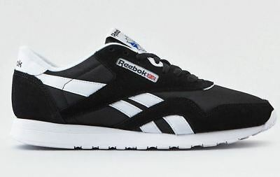 3aadf8eaff388d New Men s Reebok Classic Nylon 6604 Black White Sneaker Casual Shoes Size 11