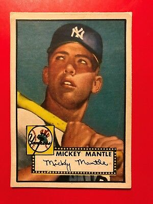 1952 Topps Mickey Mantle Rookie Card #311 - baseball read description