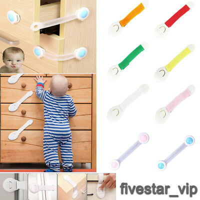 10 Child Baby Cupboard Cabinet Safety Locks Pet Proofing Door Drawer Fridge Kids