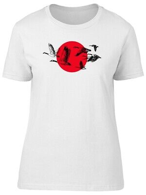 Wild Geese And Red Japan Sun Women's Tee -Image by Shutterstock