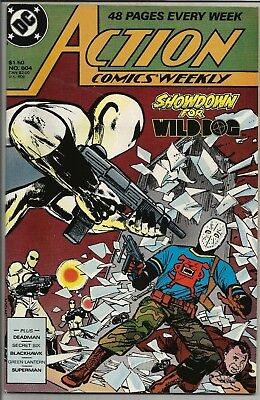 Action Comics Weekly Showdown for Wild Dog #604 1988 DC Comics Never Read