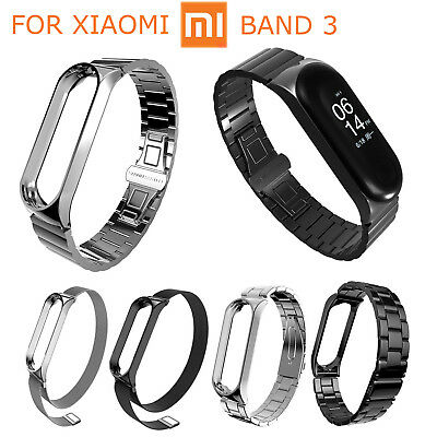 Stainless Steel Bracelet Band For Xiaomi Mi Band 3 Miband3 Metal Strap Wristband