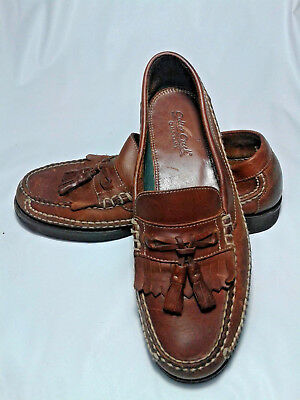 633e7925b6f Colter Creek~HS Trask Mens Shoes 9M Brown Leather Tassel Loafers Shoes