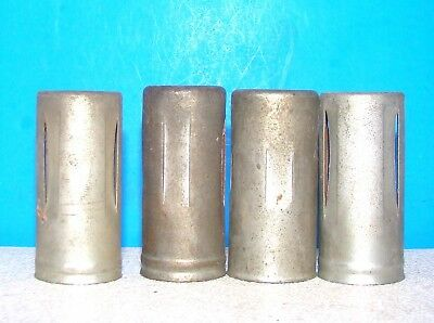 lot 4 radio vacuum tubes heat shields covers 7 pin 12BE6 6AT6 1R5 6BA6 6AU6 1L6