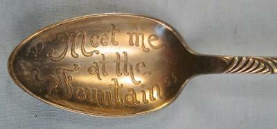 Meet Me At The Fountain Vintage Decorative Spoon 1847 Rogers Bros AI Flowers (O)