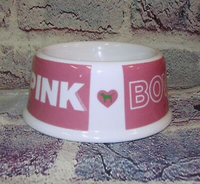 Pink Victoria's Secret Rare Dog Bowl Ceramic HTF