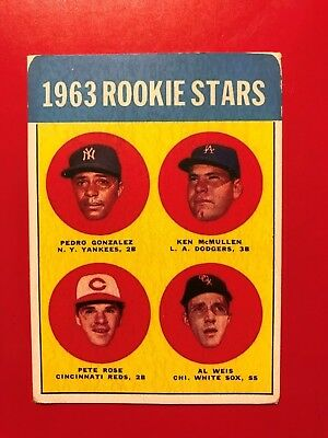 1963 Topps Pete Rose Rookie Card #537 - baseball read description
