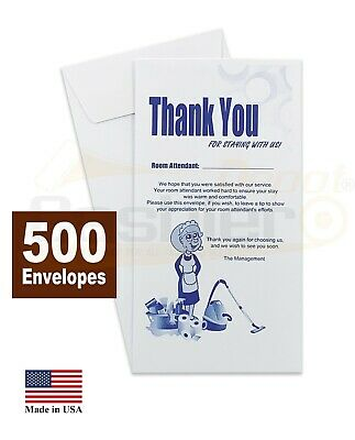 "Housekeeping Tip Thank you Envelope, 3 1/2"" X 6 1/2"", 500/Box"
